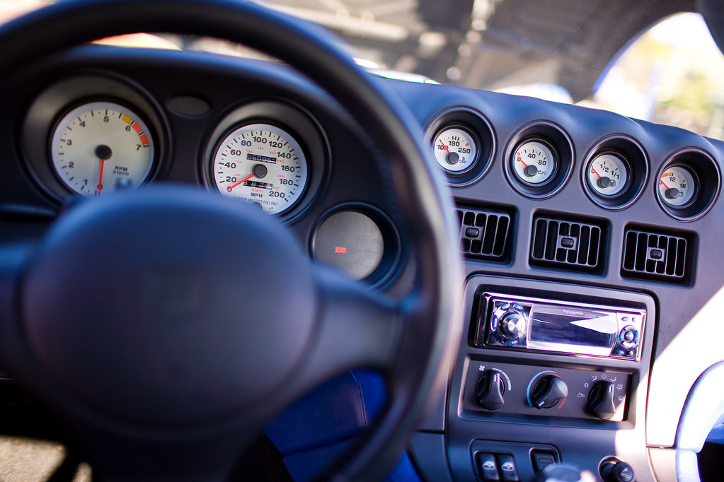 Blue And White Stripes 1997 Dodge Viper GTS (Interior) | Flickr