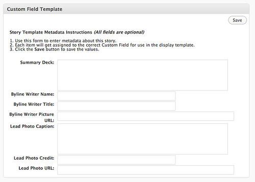 custom field template wordpress plugin screenshot this is flickr. Black Bedroom Furniture Sets. Home Design Ideas