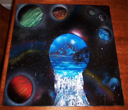 Spray Paint Art Waterfall Spray Paint Art Completed Wit Flickr
