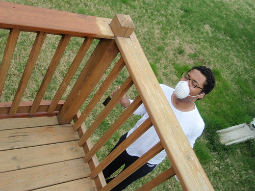Staining the deck | by Zepfanman.com