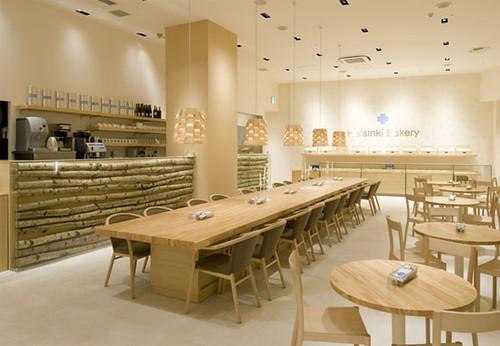 Modern minimalist bakery restaurant
