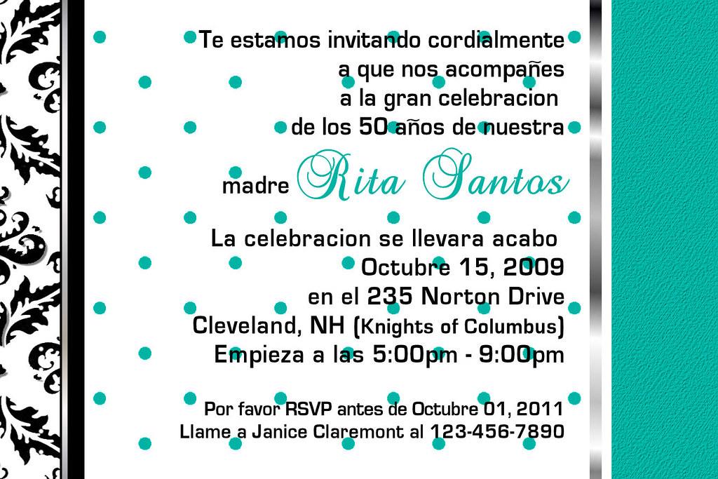 Spanish Wedding Invitations Examples: C#80,teal,blue,pink,white,custom,personalized,wedding,brid