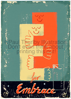 E for Embrace | by Paul Thurlby
