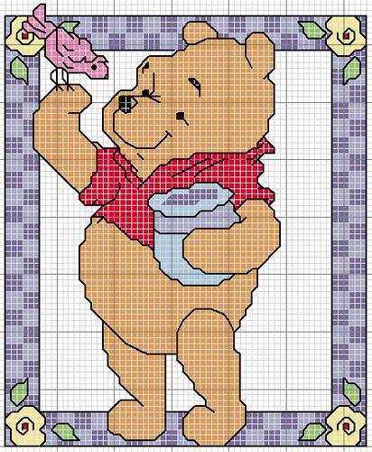 Schema punto croce winnie the pooh primavera algery for Punto croce disney winnie the pooh