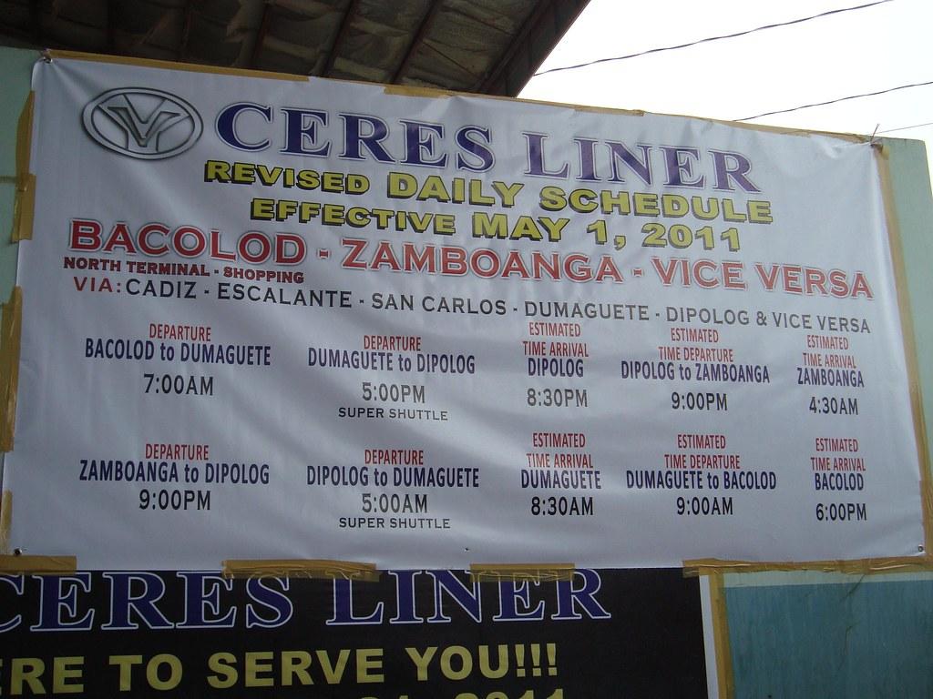 Ceres Liner Daily Schedule Bacolod Zamboanga V V Flickr