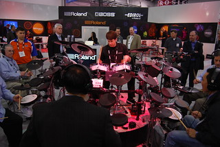 Johnny Raab at the Roland booth | by International CES