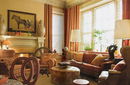warm colors luxe fabric living room by barry dixon flickr photo