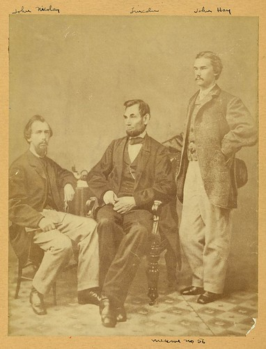 Lincoln & his secretaries, Nicolay & Hay (LOC) | by The Library of Congress