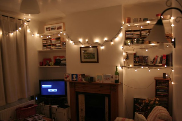 My living room with fairy lights sezzy_boy Flickr