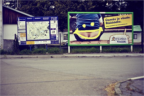 The Smile is Everywhere, billboard, CZ | by Um Abbas