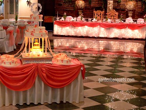Elegant Peach And White Quinceanera Cake Flickr Photo