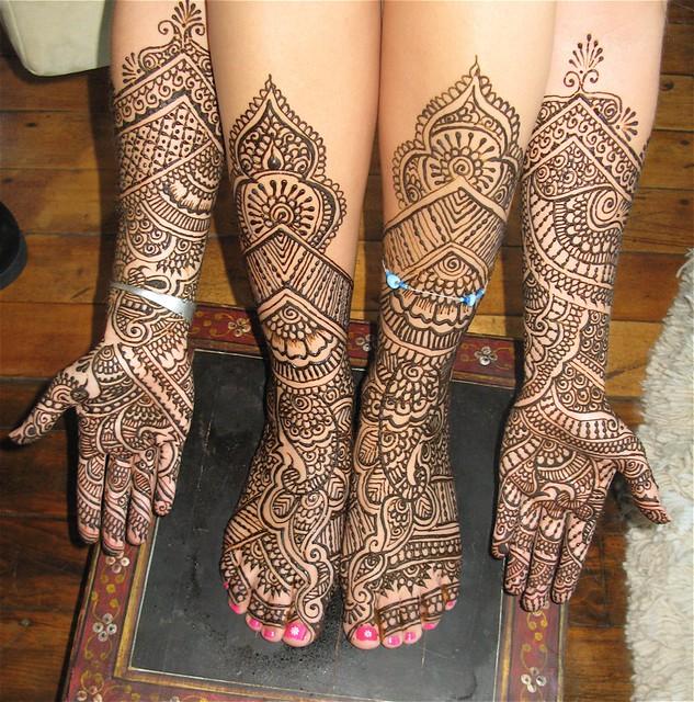 Jaipuri Bridal Mehndi Designs : Bridal style henna for burning man this client wanted a