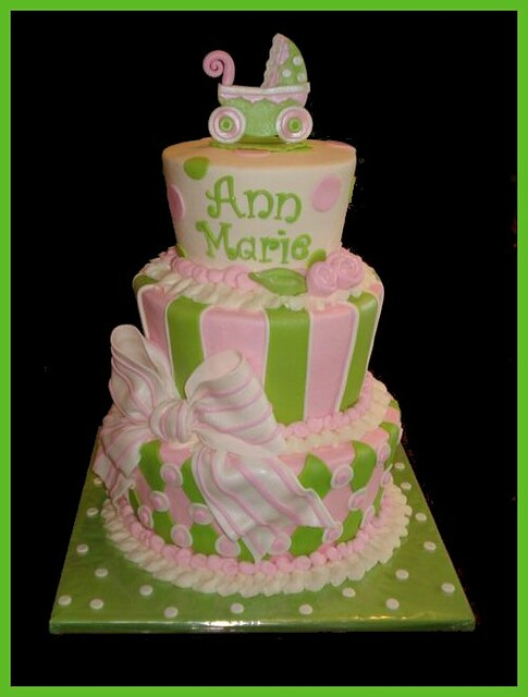 Pink Green Baby Shower Cake To Welcome Ann Marie Flickr