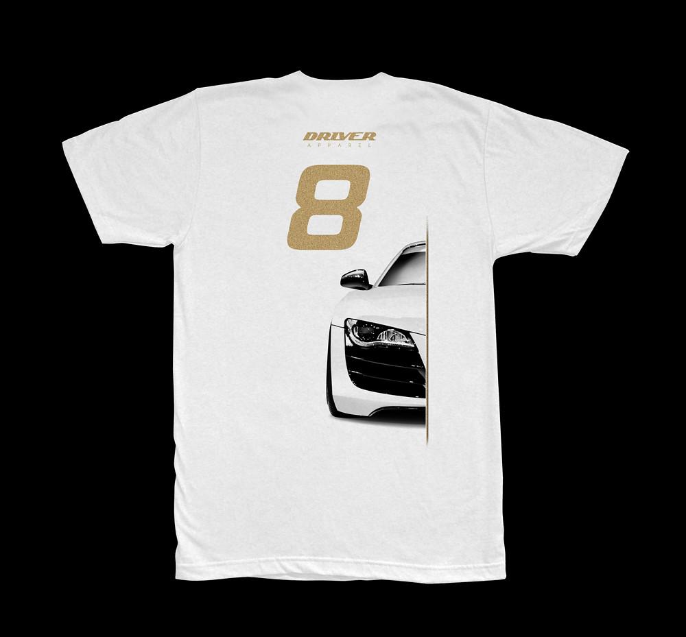 Audi R8 Design T-shirt (Back)