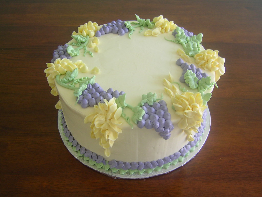 Cake Art Flowers : Flower cake with grapes www.make-fabulous-cakes.com Flickr