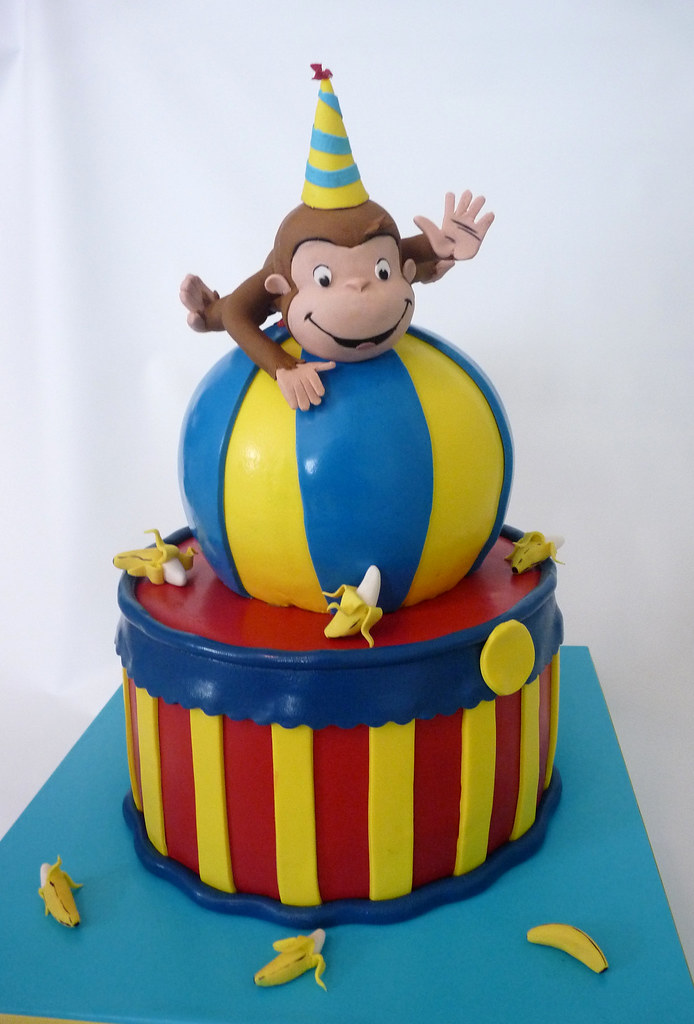Curious George Fondant Covered Cakes With Gumpaste
