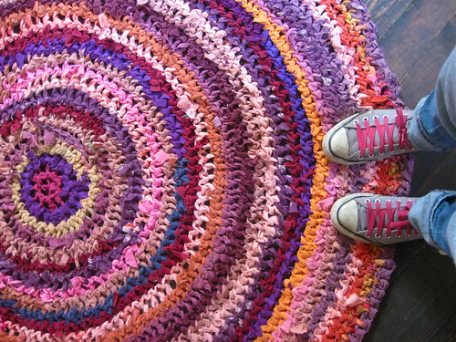sunset rag rug | by roses&pearls
