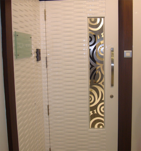 Stainless steel safety grill naman steel has fabricated for Ss door design