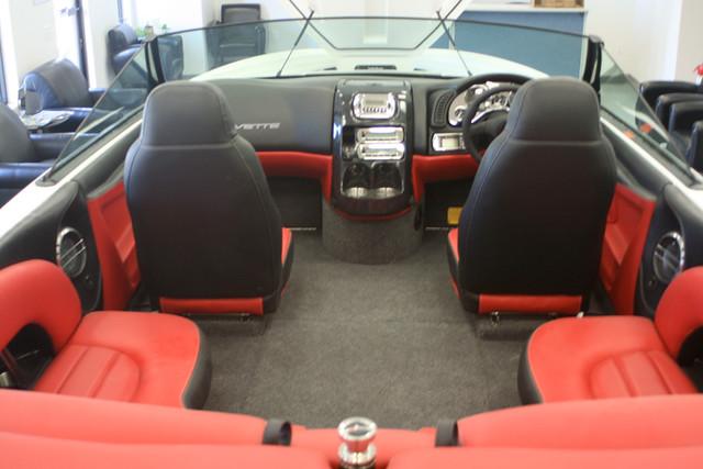 White Corvette Boat With Red Interior This Corvette Red