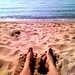 Feet in the sand...