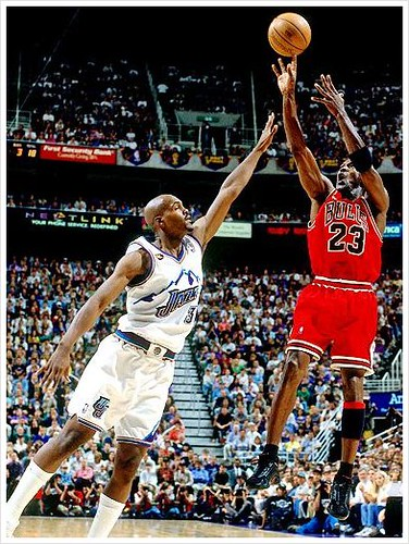 Michael Jordan, Byron Russell, Basketball Hall of Fame, Ch… | Flickr