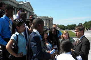 Congressman Terry and students from OPS on the Capital steps. | by Representative Terry