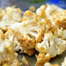 roasted cauliflower with indian spices and yogurt dip