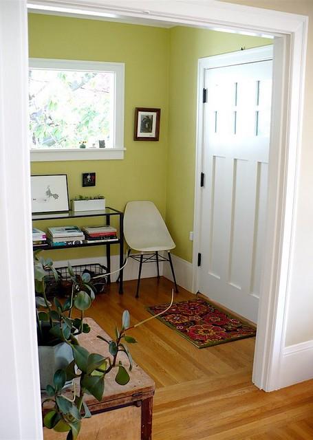 Real Homes Green Foyer Painted Benjamin Moore S Pale Av