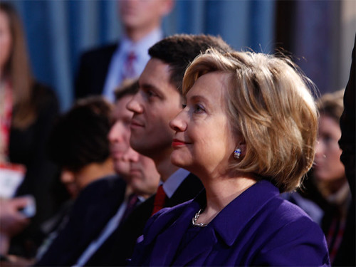 Hillary Clinton and David Miliband | by Downing Street