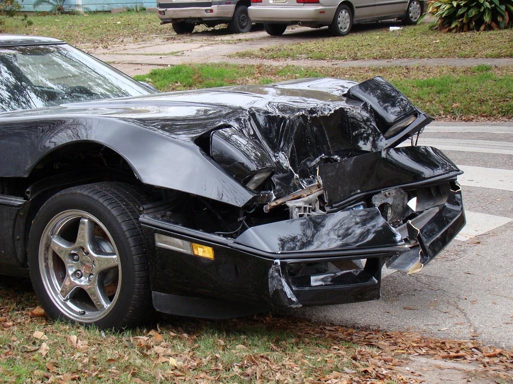 1989 Corvette C4 Coupe Wrecked Dec 21 2008 1989