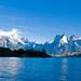 Sunrise en Patagonia parque nacional Torres del Paine, Sur de Chile