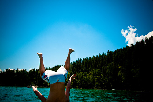 Backflip off the pontoon boat | by ★ spunkinator