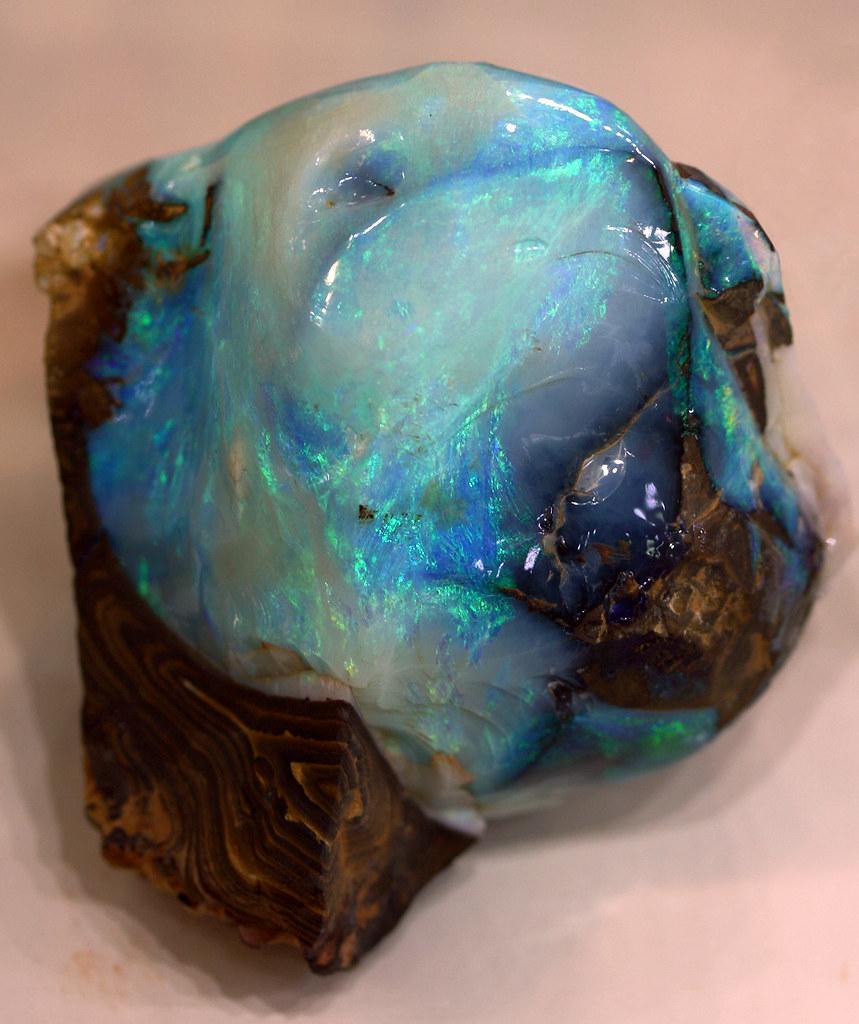 Opal A Large Specimen Of Natural Opal On A Dark Matrix
