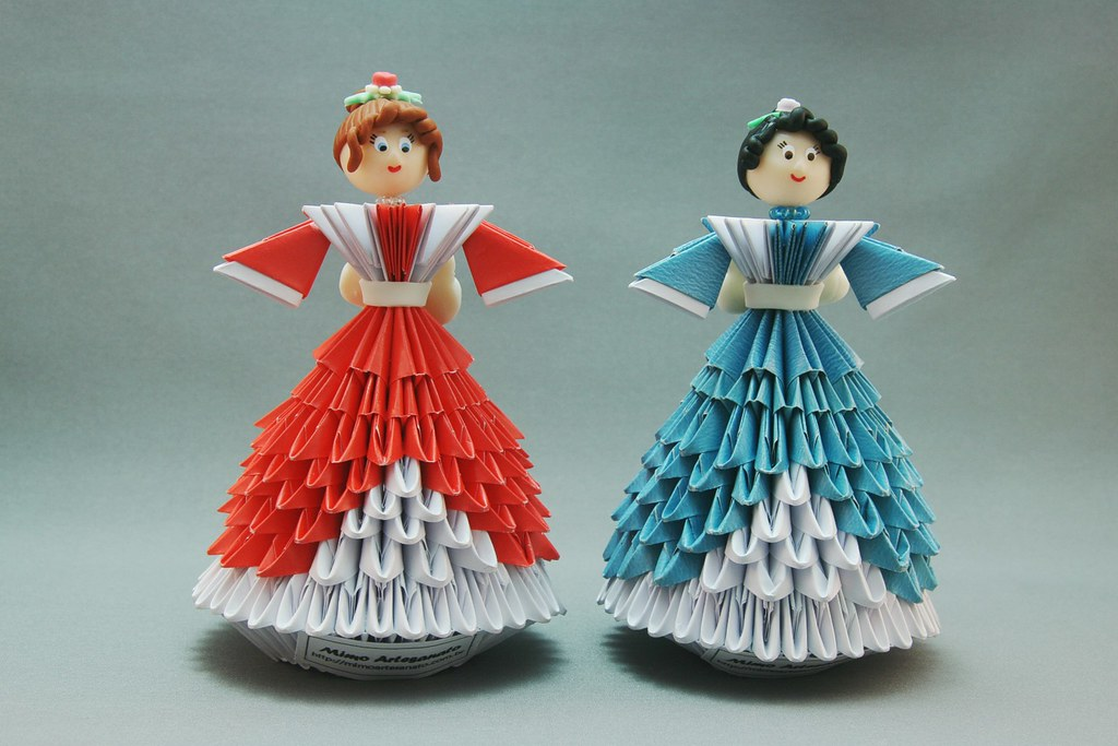 Bonecas em origami 3D | Mimo Artesanato | Flickr