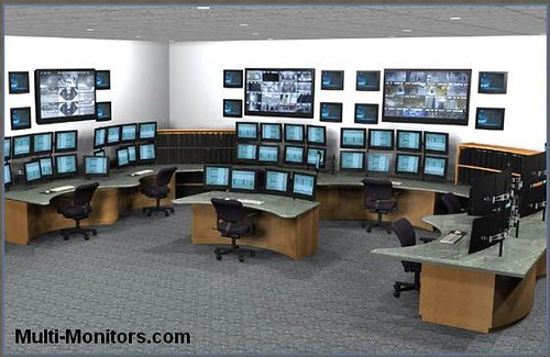 military training and command multi monitor computer desk flickr. Black Bedroom Furniture Sets. Home Design Ideas