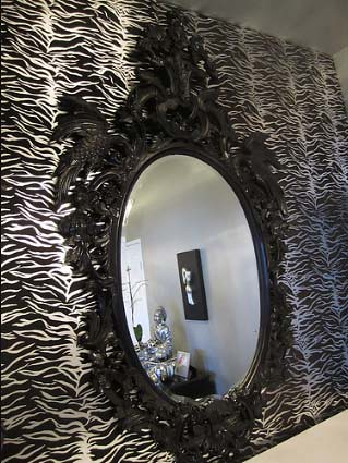 4118 black oval handcarved baroque mirror this fabulous for Baroque oval mirror