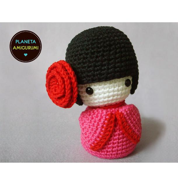 Japanese Amigurumi Blog : kokeshi #1 Maryangela Flickr
