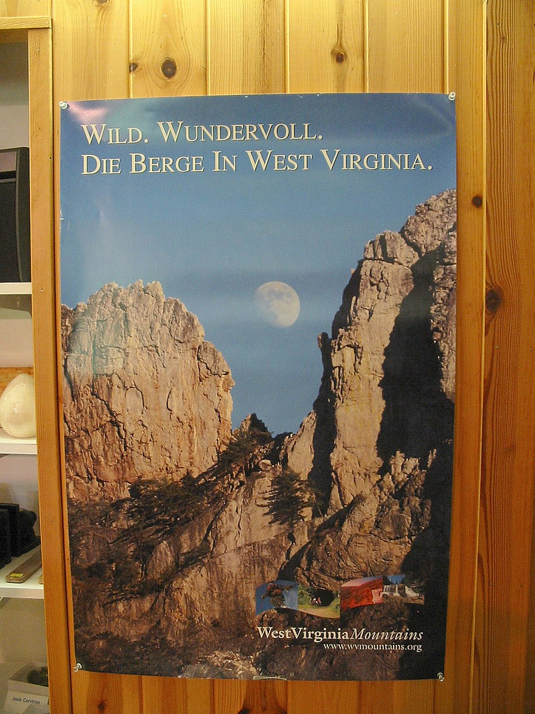 West Virginia Tourism Poster In German Quot Wild