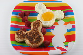 Cinnamon-Oat Pancakes & Mickey Mouse Eggs | by Food Librarian