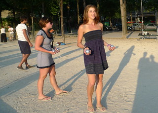 Boules along the Bassin (Paris) | by Meg Zimbeck