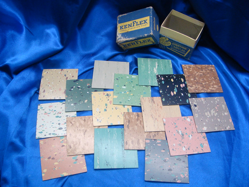 Asbestos kentile floor tile sample set 002 kenflex for Marley floor cost