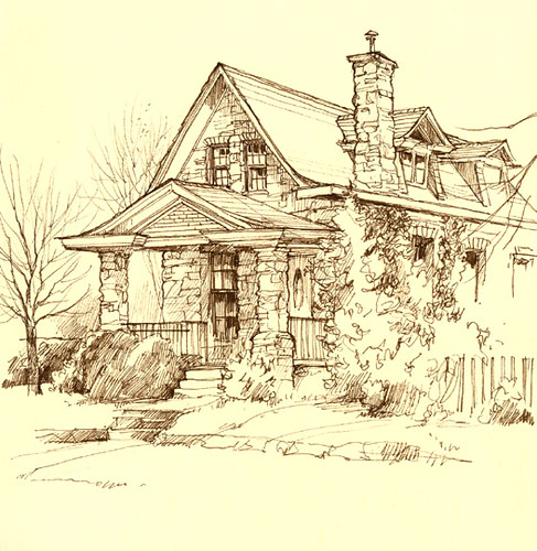 Stone house i 39 d always wanted to sketch this place i for Draw my house
