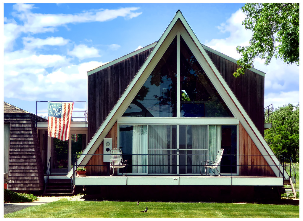 A frame housing triangular and tee pee shaped homes date for What is a frame home