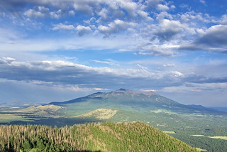 San Francisco Peaks from Kendrick Mountain Fire Lookout Tower | by Al_HikesAZ