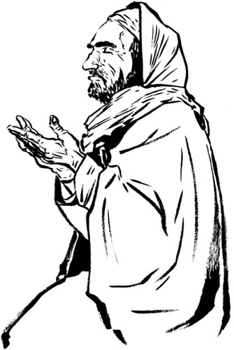 Afghan Man Praying | A series of drawings for an article ...