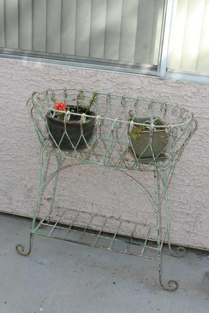 metal plant stand. | This plant stand has an awesome story ...