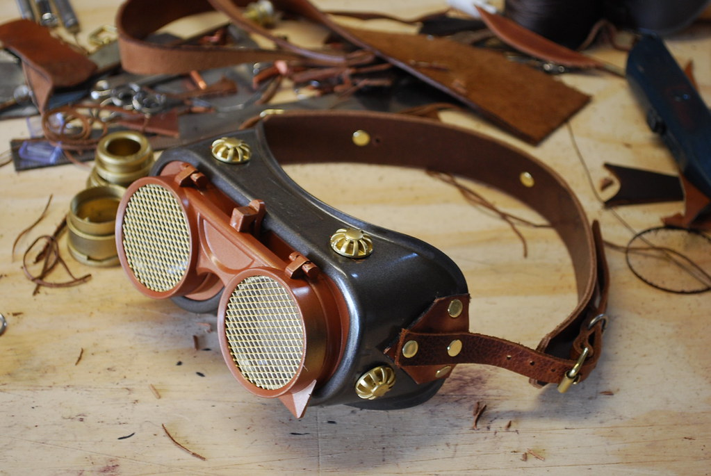 lab intern steampunk goggles mad science goggles flickr. Black Bedroom Furniture Sets. Home Design Ideas