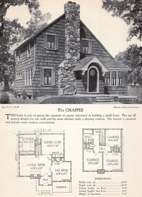 1928 Home Builders Catalog The Chaffee