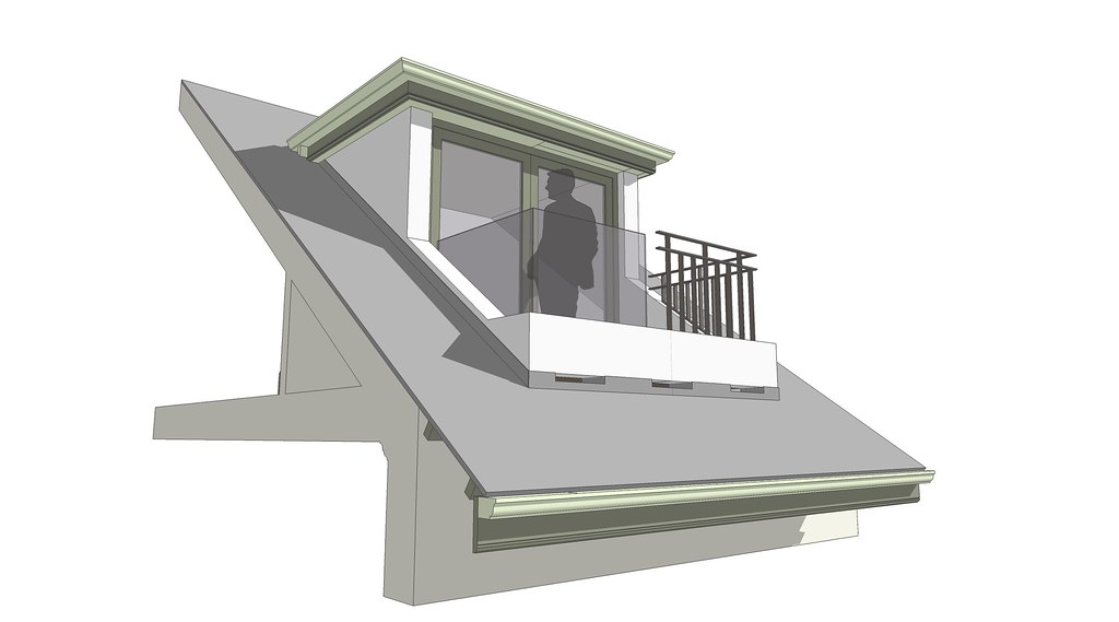 loft conversion ideas uk - Room in a roof dormer balcony 02