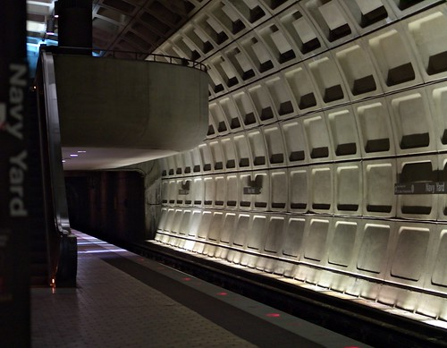 Empty Metro Platform (Washington, DC) | by takomabibelot